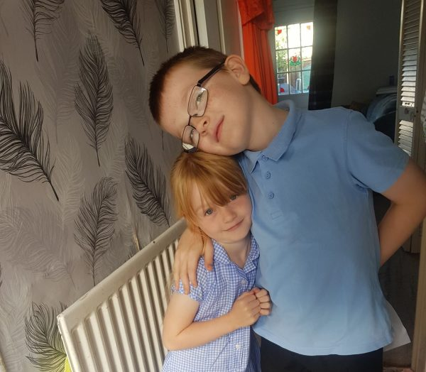 Jake and Grace last Day of School July 2019