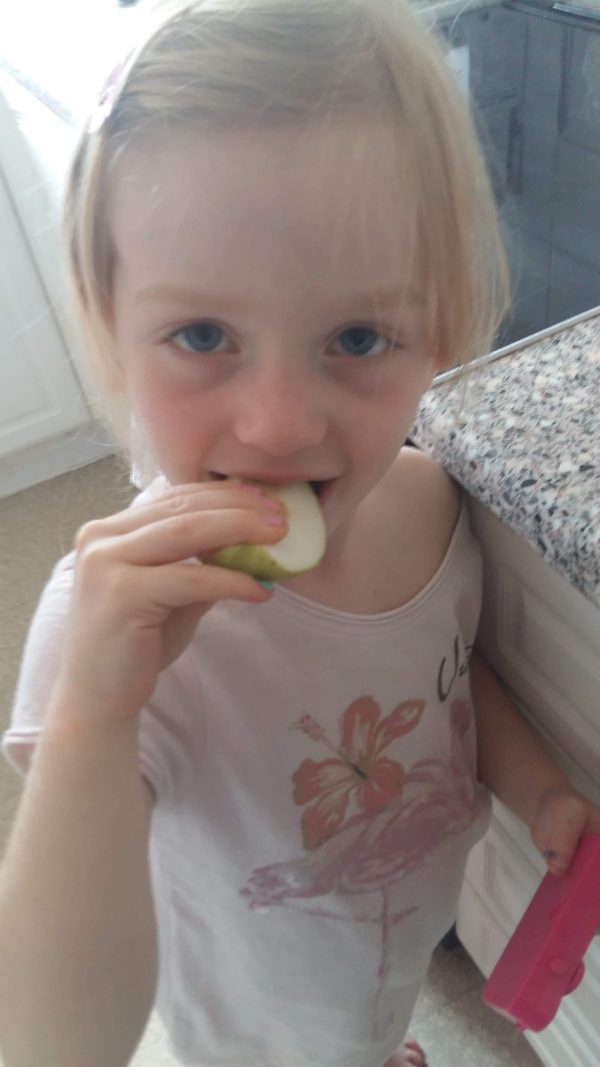 First Pick of Apples from Our 50p Tree  Tasting our juicy apple