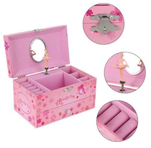 Songmics Ballerina Musical Jewelry Box