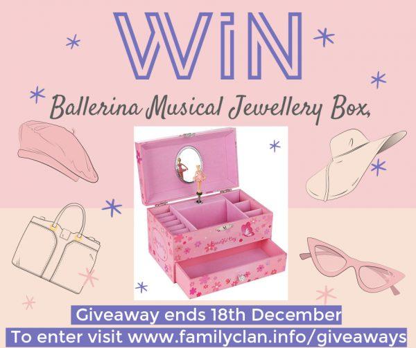 Win a Songmics Ballerina Musical Jewelry Box