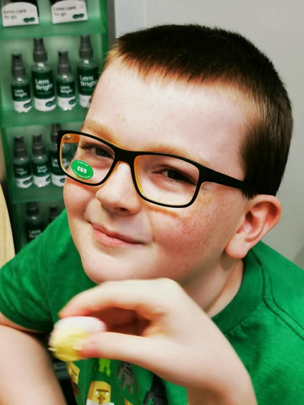 Jake at the opticians