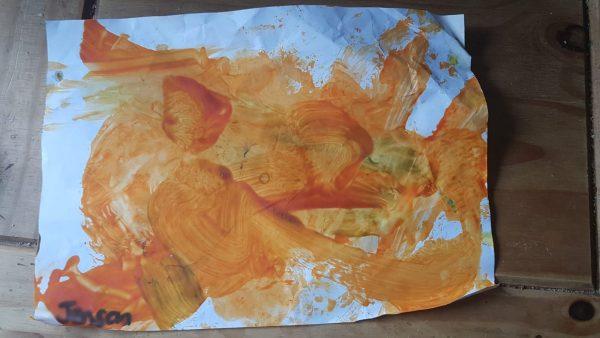 Jensens 1st Nursery painting September 2020 Family Clan