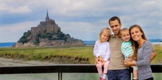 family coste en camping car mont saint michel