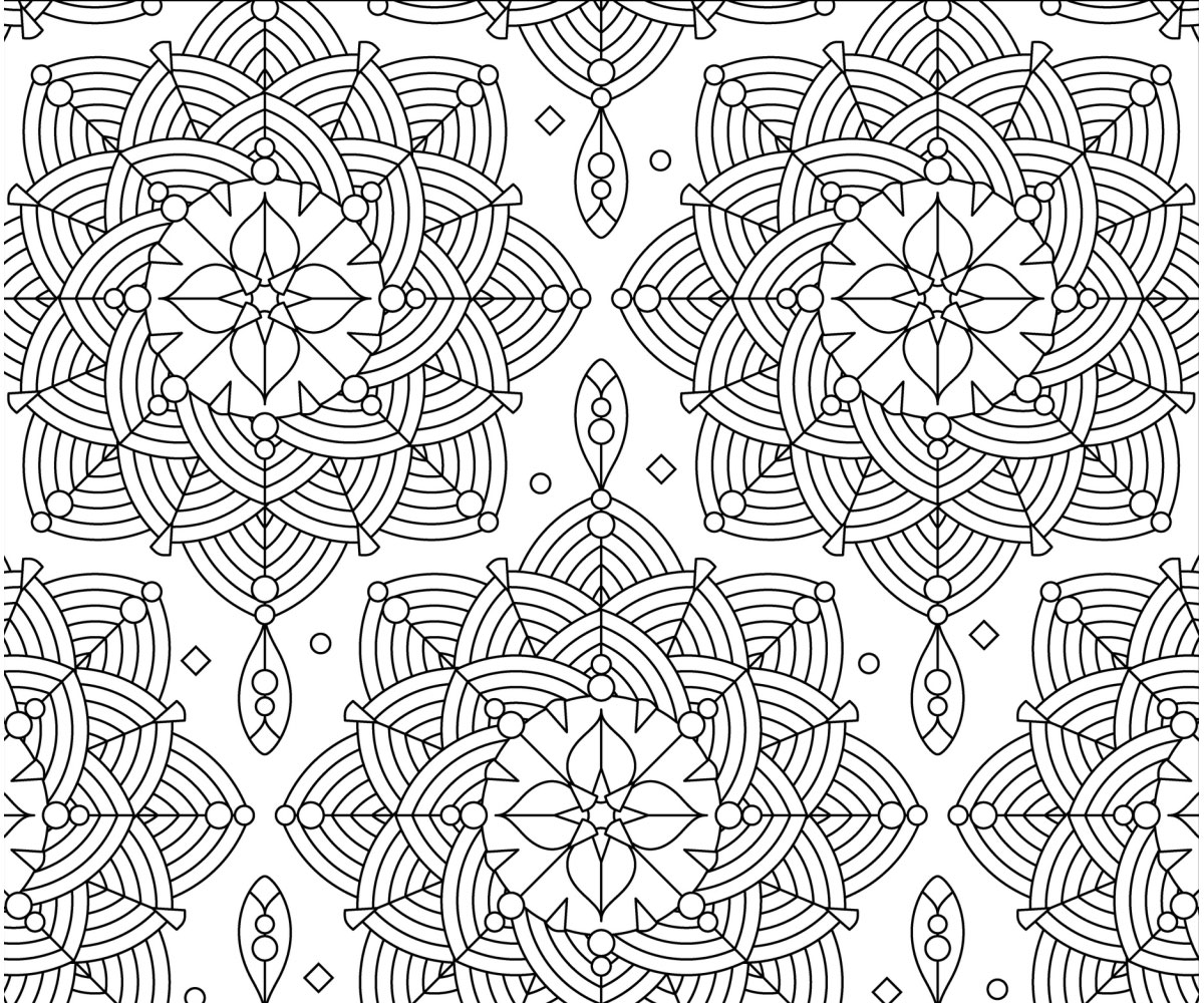 Free Printable Adult Coloring Page Rosettes
