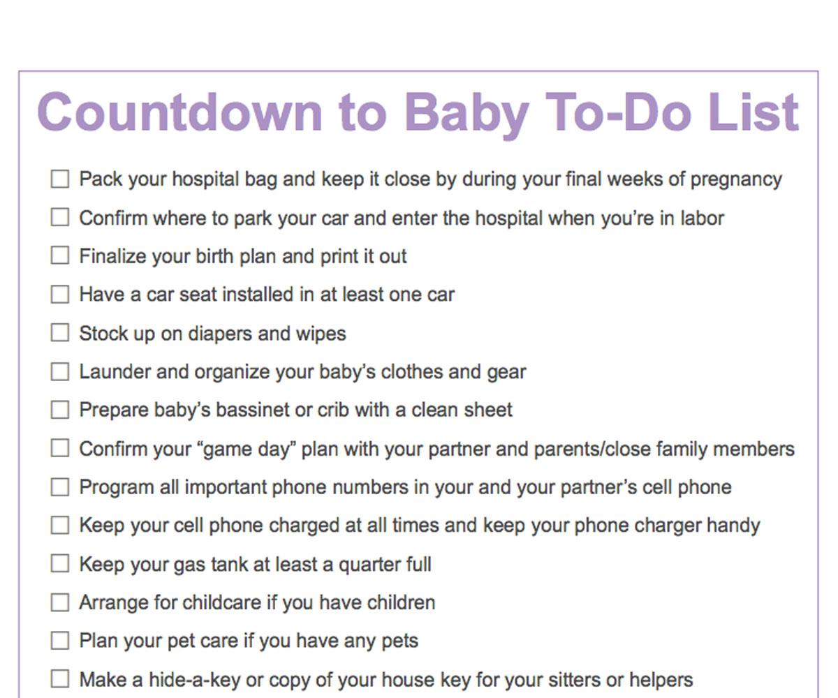 Birth Of Baby Worksheet