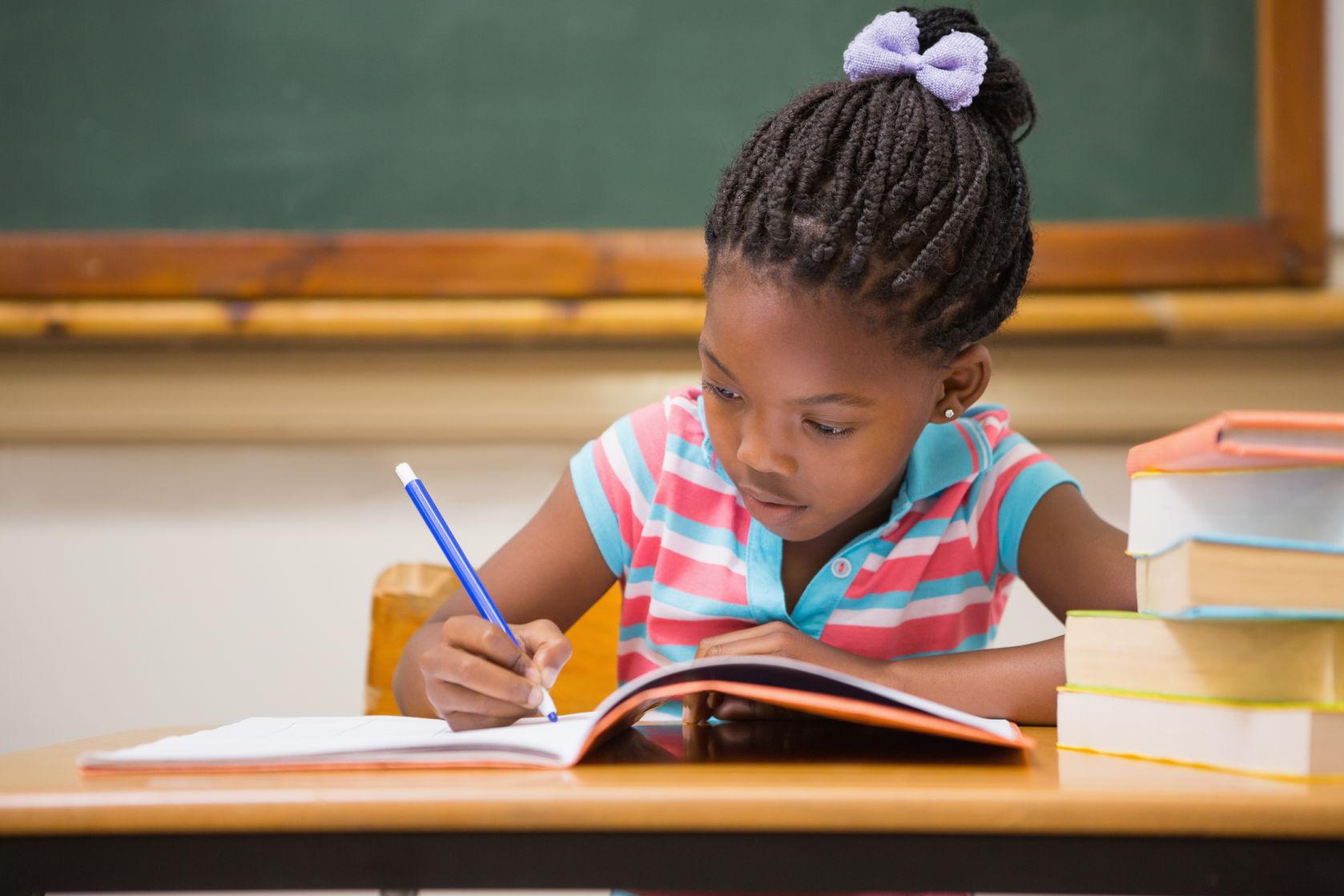 Five Year Old Writes Backward