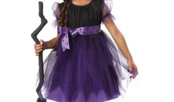 Childrens witch costume for halloween