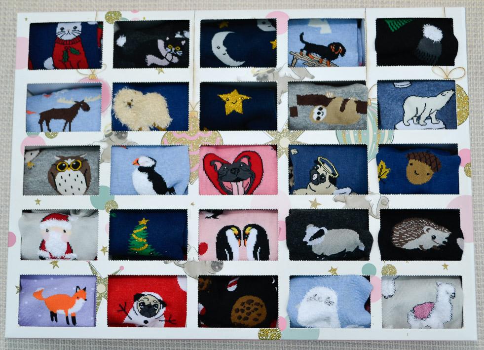 Ladies 25 Pair SockShop Advent Calendar