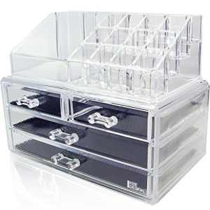 Ikee Design Acrylic Jewelry & Cosmetic Storage Display