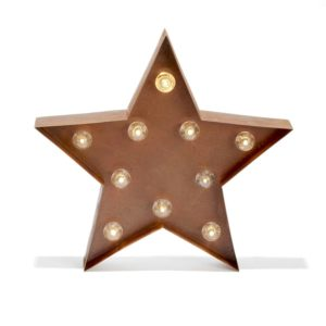Vintage Lighted Star Marquee
