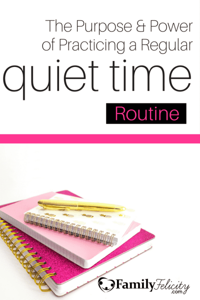 Practicing a regular quiet time is beneficial in so many ways. Click image to learn the purpose & power of practicing a regular quiet time routine and how to get yours started.