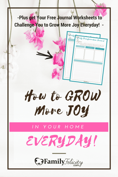 Joy is often in short supply in our hectic homes. But we have the power to grow joy with these 2 fool-proof strategies!