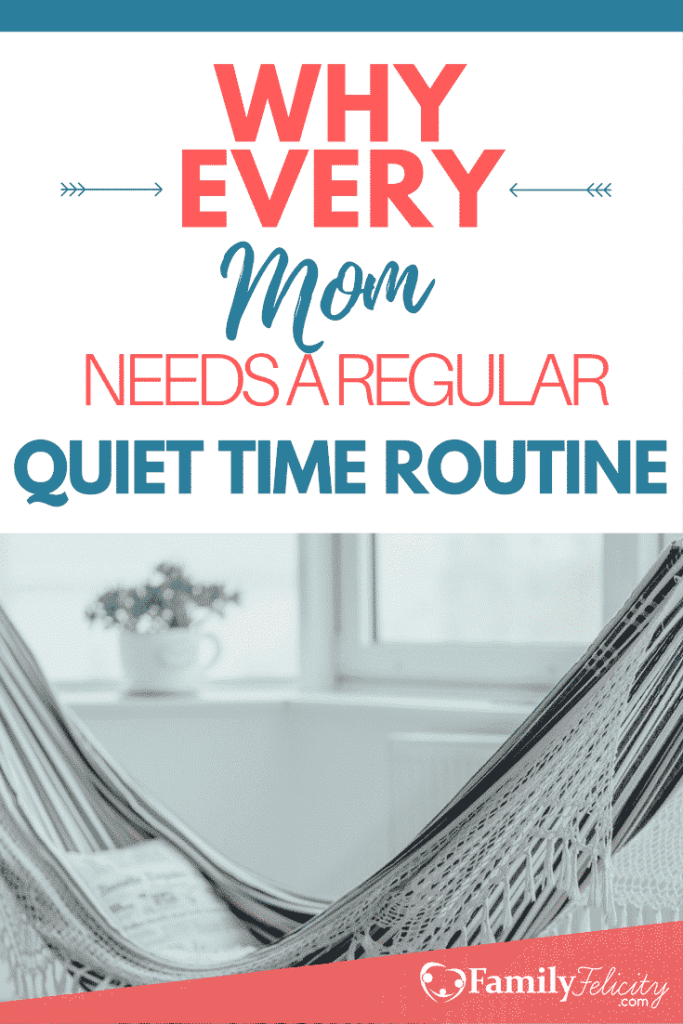 Practicing a regular quiet time is beneficial in so many ways. Click image to learn the purpose & power of practicing a regular quiet time routine and why EVERY Mom needs one! Get your quiet time routine jump started today and start living the life you really want to live!