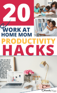 These work at home mom productivity hacks and tips will have you working and feeling like a Mom boss in no time! #Momboss #productivity #goals #Goals2018 #goalcrusher