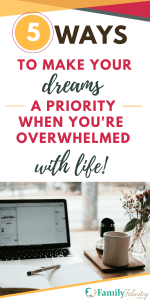 Moms are the masters of multitasking, but what about raising a family, working, and pursuing your dreams? Is there time for it all? Even when it's scary and you're overwhelmed with life, there's still a way to pursue your dreams and still keep your family first.
