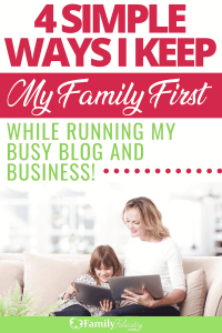 Blogging isn't easy... especially as a stay at home mom. These simple tips will help you run a successful blog without leaving your family behind! #family #blogging #blogger #kidsandparenting #parenting