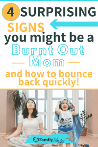 Motherhood struggles are real! And too many moms are exhausted, snappy, and prone to yell because they are simply burnt out. Get the simple step to bouncing back quickly from burnout! #joy #Momstruggles #parenting #motherhood #momlife