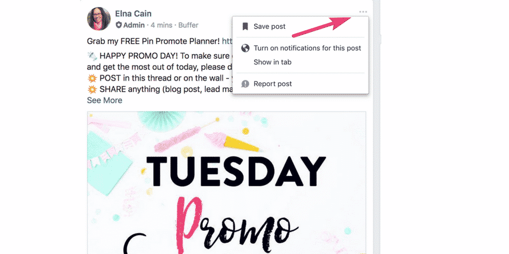 How to Save Facebook Group Post