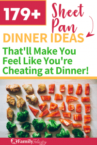 Get over 170 tasty sheet pan dinner meal prep ideas to get a healthy dinner on the table fast! #meals #mealplan #mealprep #dinnerideas #dinnerrecipes