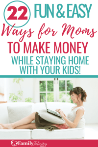 Here are 22 work at home jobs that are perfect for stay-at-home moms! Fun, easy, and creative! #sidehustle #workathome #makingmoney #personalfinance #money #budget