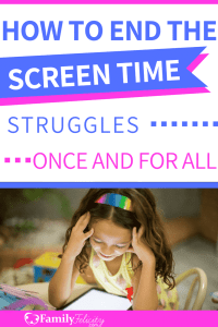 Struggling to find balance in managing your kids screen time? Try this painless process that'll have your kids gladly dropping their electronic devices! #parenting #kidsandparenting #momadvice #screentime