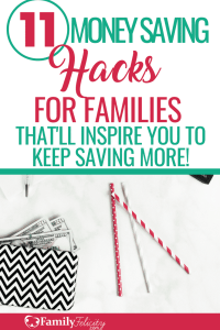 Saving money with a busy family is much easier than you think! These tips will have you saving hundreds and will inspire you to keep saving more! #money #personalfinances #budget #money #saving