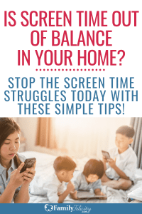 Too much screen time doesn't have to take over your home. Try these simple tips to keep your kids happy and entertained without electronics. #kidsandparenting #parenting #kids #kidsactivities #momlife