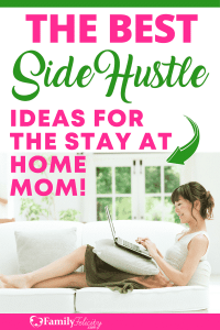 Are you a stay at home mom who wants to create an additional income stream on the side? This list is made for you and has work that fits your interests and talents and won't find like work! #sidehustle #sideincome #makingmoney# #oneincome #personalfinance #businesstips
