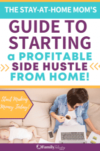 Looking to make extra money from home as a stay at home mom? Get 20 easy and legit side hustles you can start today to make more money! #sidehustle #makemoney #savemoney #mompreneur #momboss