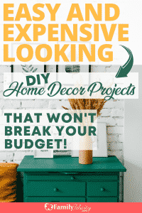 These simple and easy DIY home decor projects are expensive looking but won't break your budget! These ideas will make your home look amazing! #decor #DIY #decorating #creative #crafts