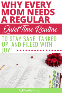 Having a regular quiet time routine is so important to staying filled with joy and overcoming overwhelm as a mom. Try these simple steps to easily get started! #growth #selfimprovememt #jesus #joy