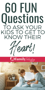 If you really want to get to know your child's heart, try asking the right questions. These questions are guaranteed to get your kids talking and having fun! #kidsandparenting #parenting #parentingtips #parenting101 #momlife #kids