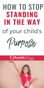 We all want our children to walk in their purpose, but there's one way we can unknowingly stand in their way and how to avoid it! #parenting #kidsandparenting #parenting101 #parentingtips