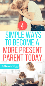 We are so busy as moms that's its really hard to connect with our kids. Here are some simple tips to help you become a more present parent today! #kidsandparenting #parenting #parenting101 #kids #momlife