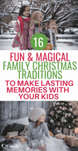 Christmas time can be such a magical season! And this fun list of family Christmas traditions will have you creating fun and lasting memories with your kids! #kidsandparenting #christmas #holiday #parenting #familytime