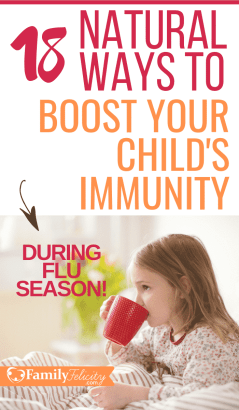 These essential oils will help you naturally boost your child's immunity and effectively protect them from the harmful affects of the dangerous flu season! Get all the recipes here! #kidsandparenting #wellness #kidsandparenting