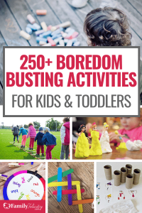 Kids crying bored all the time? Try these super fun boredom busting activities for kids and toddlers! #activities #kids