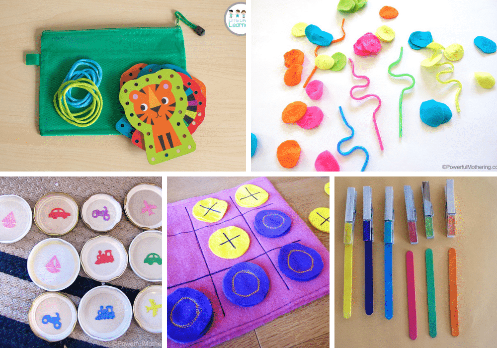 busy bags activities for 2 year olds