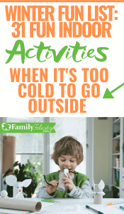 When it's too cold to go outside these super fun indoor activities for kids will deliver a fun filled days and no excuse for boredom! #activities #kids #parenting