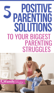 Tired of dealing with endless back talk, toddler tantrums, kids not listening, and mom guilt? Stop struggling and get these positive parenting solutions to your biggest parenting struggles. #kidsandparenting #positiveparenting #parenting101