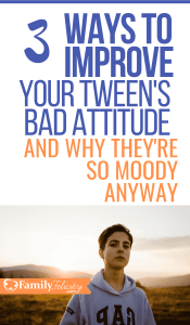 Is your Tween suddenly more moody and sensitive? Learn how to improve your tween and teen's mood and why hormones aren't likely the cause. #kidsandparenting #parenting