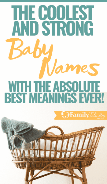Looking for cool baby names with strong meanings? This list is full of only strong baby names with powerful meanings that you'll fall in love with! #babynames #pregnancy #motherhood #babies