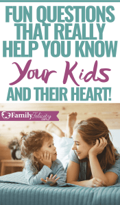Really want to get your kids to share their heart with you? Try asking these fun questions to get to know your kids. These questions to ask kids to get to know them are sure to keep the conversations going! #kidsandparenting #parenting #kids