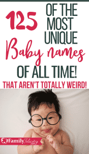 Looking for uncommon baby names that aren't overused? This list of full of over 120 of the most unique baby names that aren't overused and cool baby names you probably haven't thought of! Get the most unique baby names of all time! #babynames #babies #pregnancy