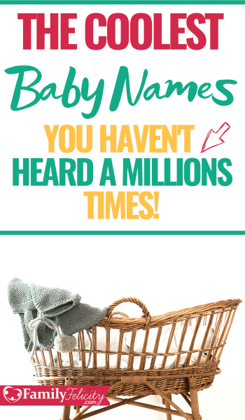 These baby names are the coolest and freshest baby names for baby boys and baby girls. Plus many of these baby names are gender neutral!! #babynames #coolbabynames #pregnancy