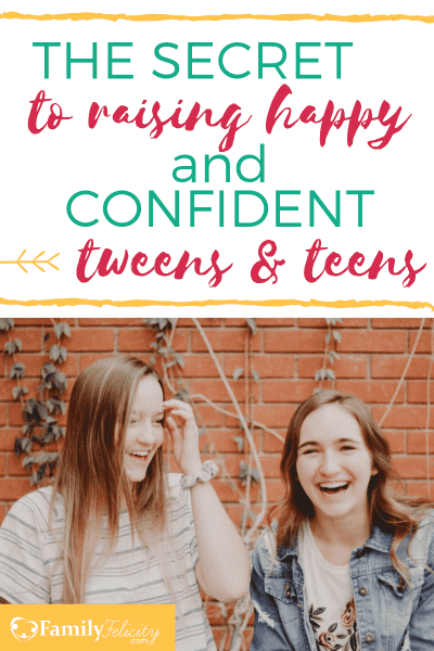 Want to know the secret to raising confident and happy teens? The answers may surprise you! Check out how to help your teen and tween be their best! #tweens #teens #raisingkids #parenting #parenting101
