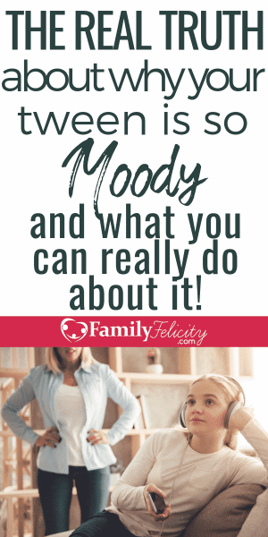 Got a moody tween or teen? Here's a little-known reason for typical tween moodiness and it's not what you think! And you CAN do something about it! #kidsandparenting #tween #teens #parenting101