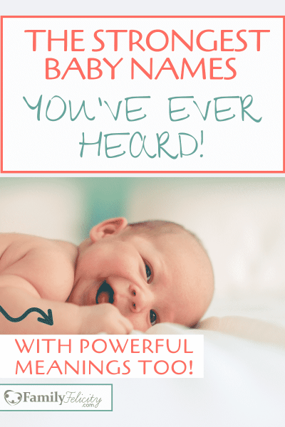 These strong baby names are cool and lovable and the best part is their powerful meanings! #babynames #babies