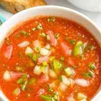 Easy tomato gazpacho soup