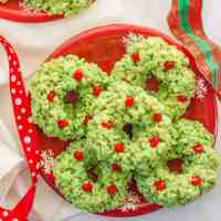 Rice Krispies Christmas wreaths